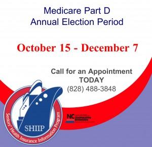 Cover photo for Medicare Part D Open Enrollment