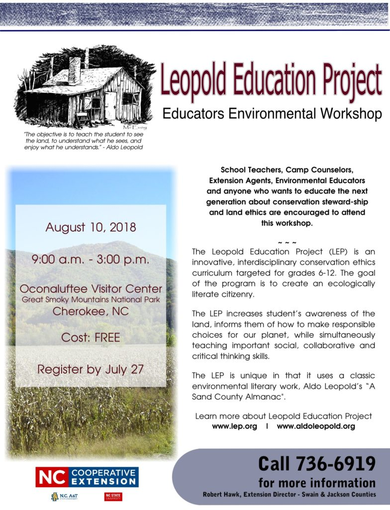 Leopold Education Project flyer