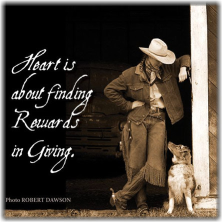 Image of a cowboy and dog