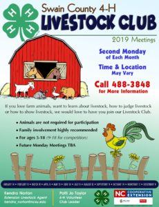 Swain County 4-H Livestock Club poster