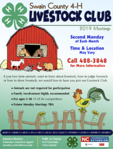 Cover photo for Swain County 4-H Livestock Club