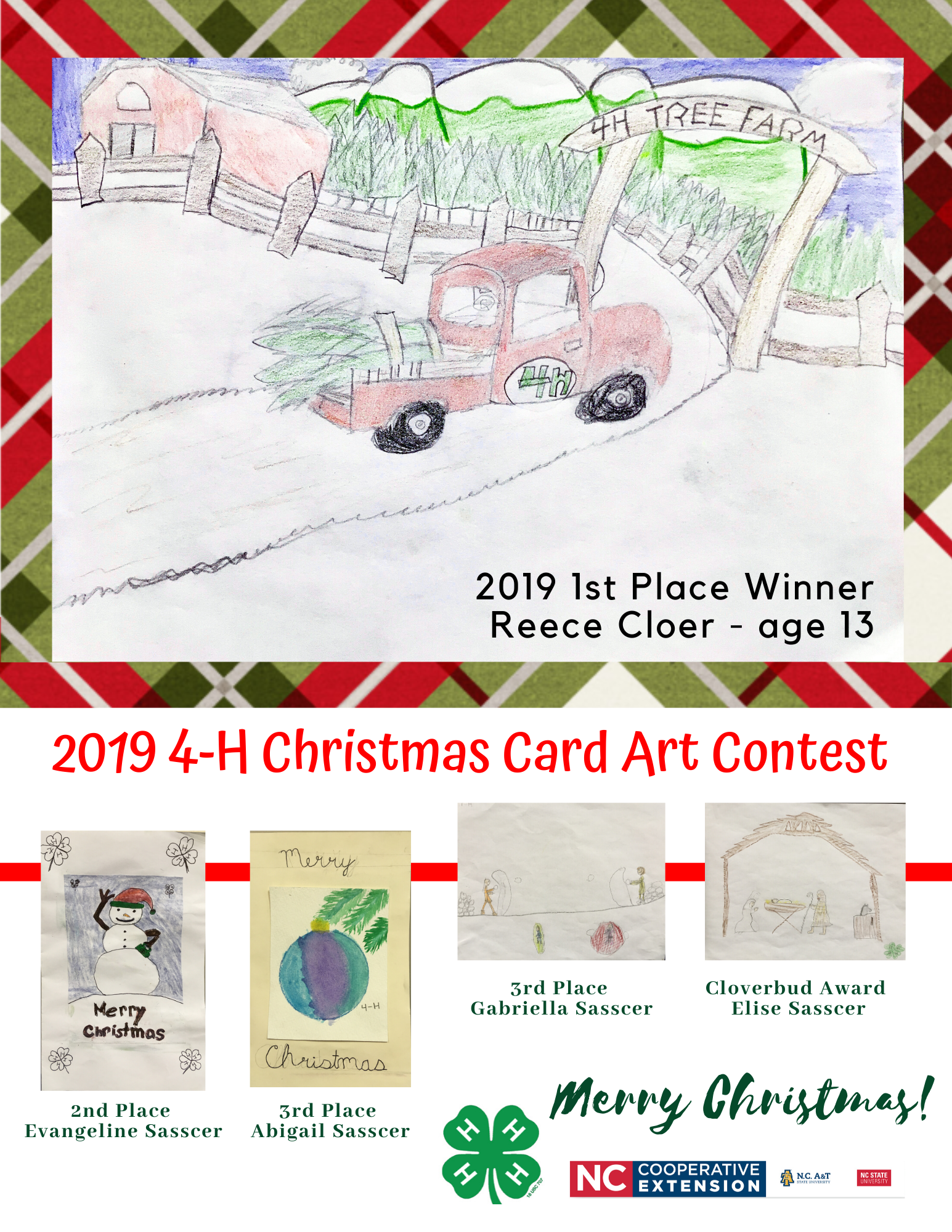 Holiday Card art contest poster