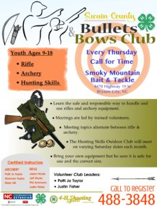 Bullets and Bows Club poster