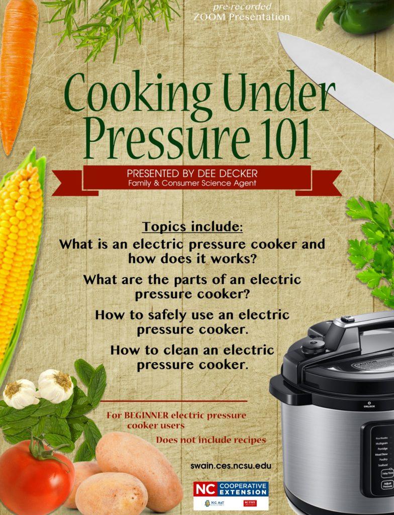 Cooking Under Pressure 101 flyer