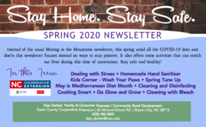 Cover photo for Stay Home Stay Safe Newsletter