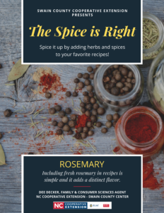 Cover photo for The Spice is Right - Rosemary