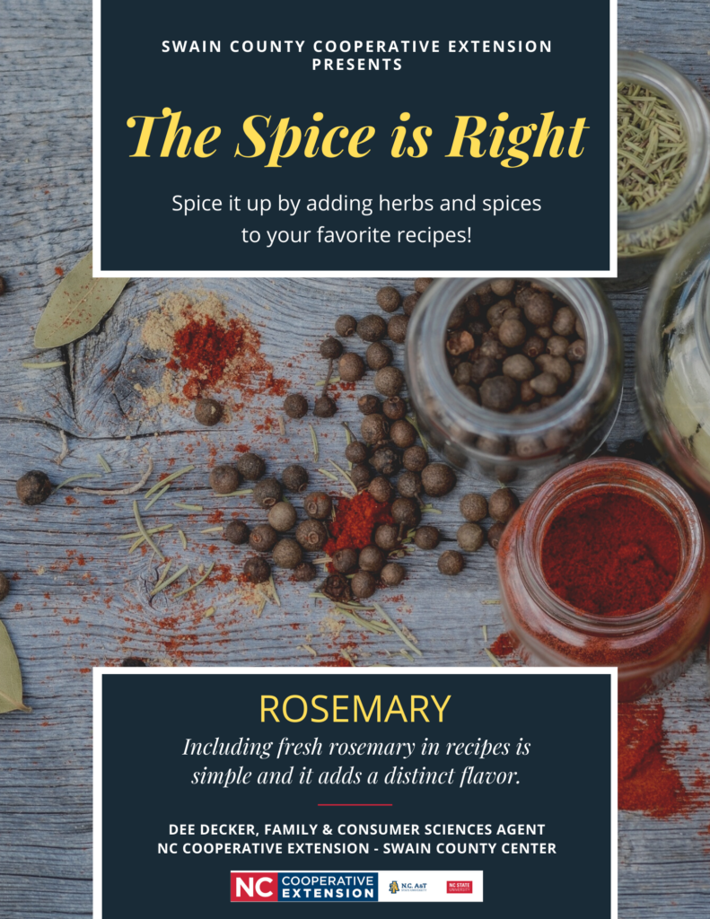 The Spice is Right - Rosemary flyer