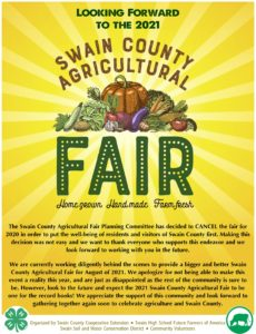 Cover photo for Looking Forward to 2021 Swain County Agricultural Fair