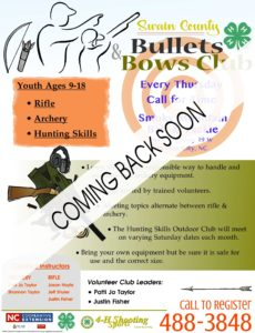 Bullets and Bows 4-H Club