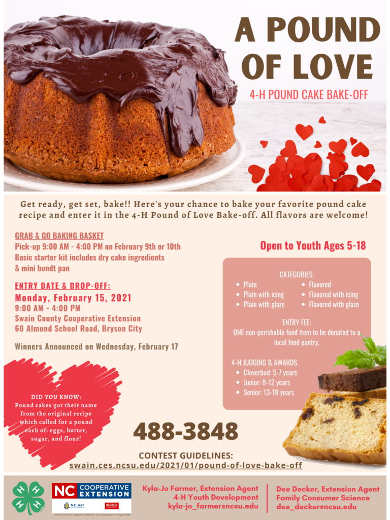 A Pound Of Love 4-H Bake-off