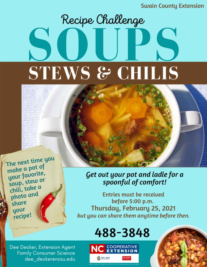 Soups, Stews, and Chilis flyer image
