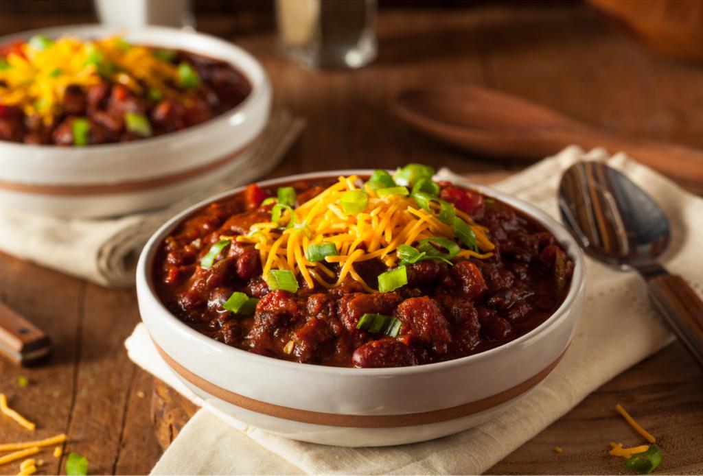 Bowls of chili