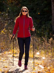 Lady Ski Walking