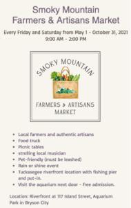 Cover photo for 2021 Smoky Mountain Farmers & Artisans Market