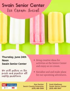Ice Cream Social June 2021
