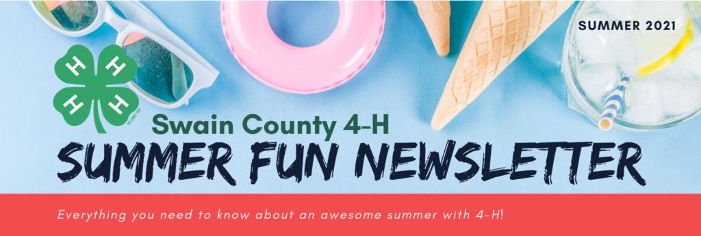 Swain County 4-H Summer Fun Newsletter 2021