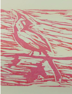 pressure painting bird