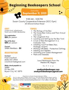 2021 Bee School Flyer